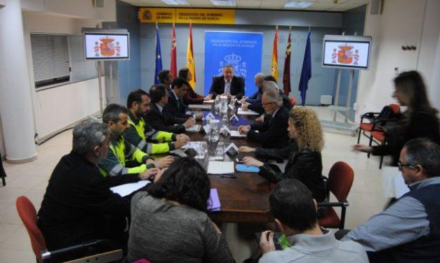 Reunión de Seguridad en el Transporte, convocada por la Delegación del Gobierno en Murcia